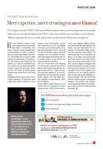 artikel unizo, roman willems, meer expertise, meer ervaring, meer klanten