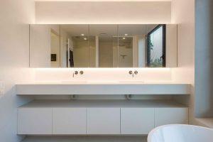 vooraanzicht van het badkamermeubel