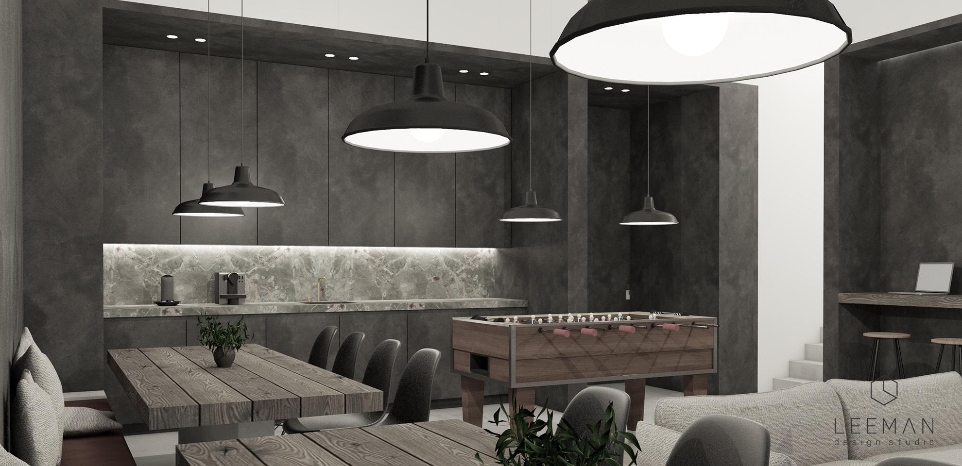 kantine en keuken ontwerp van het sterkens kantoor