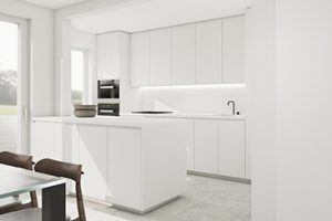 wit keukeneiland design