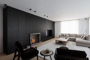 De woonkamer van het project in Haarden.