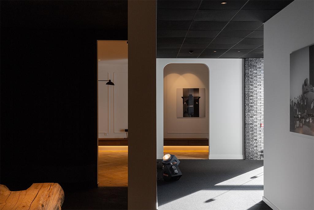 De expositie ruimte van het project in Haarden.
