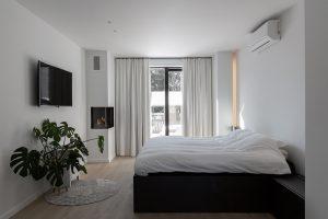De slaapkamer ruimte van het project in Haarden.